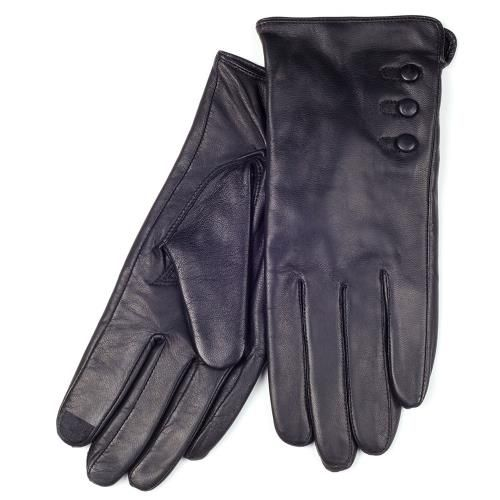 Agloves Sport Touchscreen Gloves: SmarTouch 3 Button Detail Leather Ladies Gloves