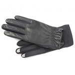 SmarTouch Leather Ladies Gloves - Black