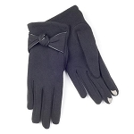 SmarTouch Thermal Knot Detail Ladies Gloves - Black