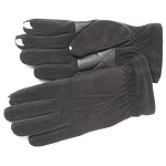 SmarTouch Fleece Lined Mens Gloves - Black