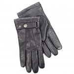 SmarTouch 3 Point Strap Detail Leather Mens Gloves