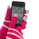 IceTouch Gloves - Fuschia Striped