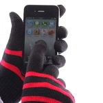 IceTouch Gloves - Black and Red Striped