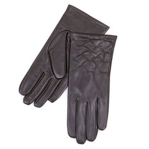 SmarTouch Rouched Leather Ladies Gloves
