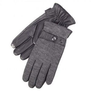 SmarTouch Knit Back Leather Mens Gloves