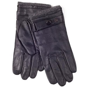 SmarTouch Punched Leather Mens Gloves