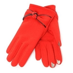 SmarTouch Thermal Knot Detail Ladies Gloves - Red