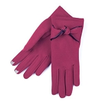 SmarTouch Thermal Knot Detail Ladies Gloves - Berry