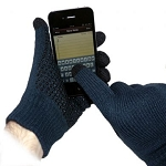 TouchAbility Grip Gloves - Navy Blue